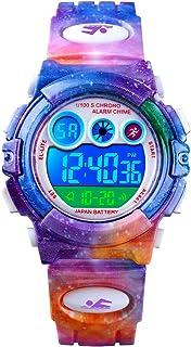 ساعة أطفال من سي كيه إي ، ساعات رقمية رياضية مقاومة للماء للأولاد والبنات مع إضاءة LED ملونة - أفضل الهدايا للأطفال