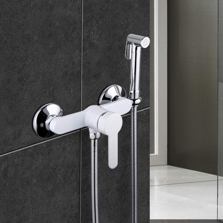 Mzdpp 1 Set New Arrivals Modern Bidet Faucet Single Handle Mixer Wall Mounted Luxury Bathroom Shower Faucet Set