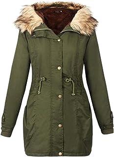 Misaky Women's Women' S Military Jacket, Hooded Long Coat Outwear