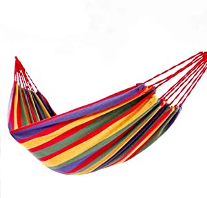 QWE Hammock Chair Single Double Thicken Long Canvas Child College Dormitory Dormitory Camping Swing