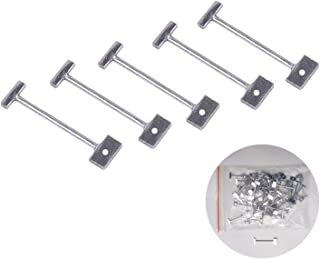 "Konren 100 Pcs 1/16"" Replacement T-Pins Steel Needles for Flooring Wall Tile Leveling System, Leveler Replaceable Pin Reus..."