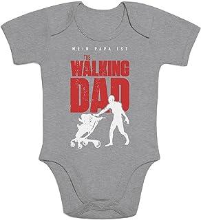 Shirtgeil Vater Geschenk - Mein Papa ist The Walking DAD Baby Body Kurzarm-Body