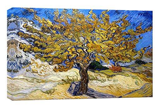 MicktorCo Stampe su Tela Tree di Vincent Van Gogh della Parete di Arte, pitture a Olio di Alta qualit¨¤ per la Decorazione Domestica (60cm x 90cm) (Unframed)