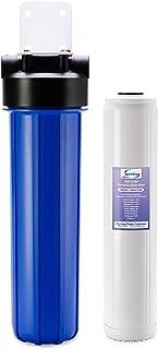 iSpring WDS150K - Filtro de agua para toda la casa, antiescala, 50,8 x 11,4 cm, color azul