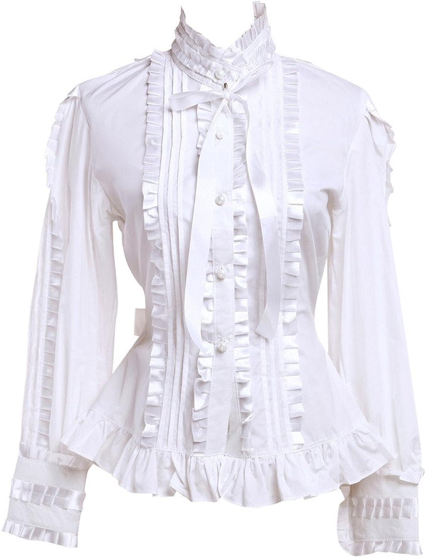 Hugme Cotton White Ruffles Lolita Blouse