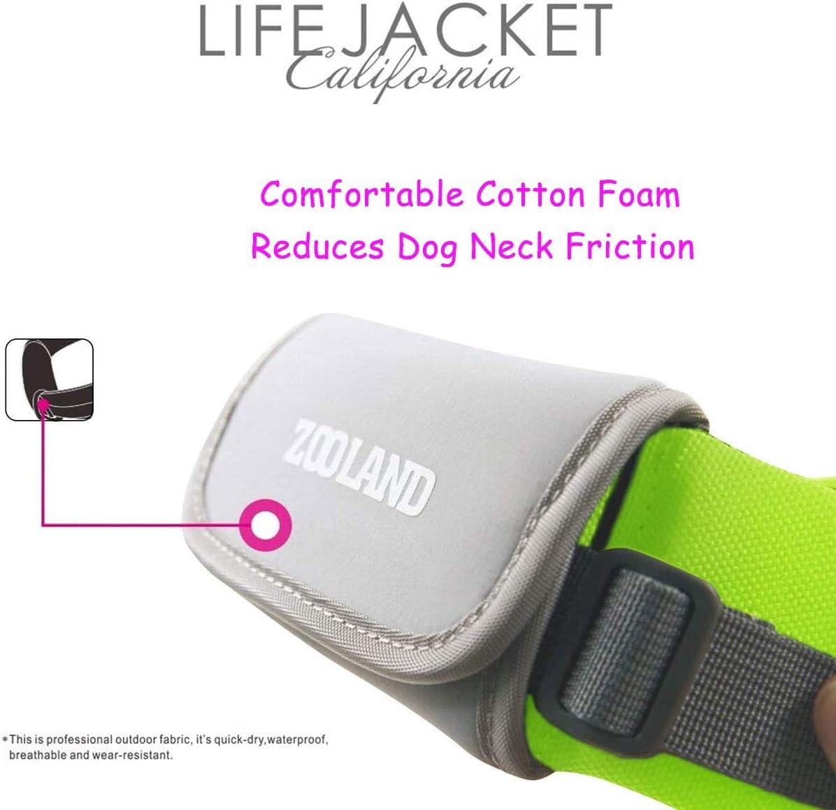 Reflective /& Adjustable Pets Float Coat for Swimming Floatation Pet Swim Life Vest with Dogs Leash Safety Dog Life Jacket