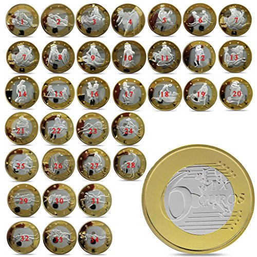 BullBallBoll New Full Set 34pcs Sex Coins Gold Plated Commemorative Sexy Art Collection Gift