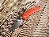 Custom scales for Spyderco Para 3. Model SX, Orange G10. Aramis design. (Knife not included)