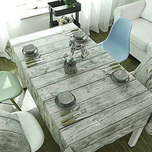 Lyff Retro Grain de bois nappes, Tapis de table de coton et lin Antifouling, Anti-dirty résistante à l'usure protection de l'environnement nappes, 55*78.7in