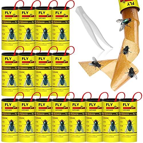 Haimist - Carta moschicida adesiva, per uso interno o serra, confezione da 16
