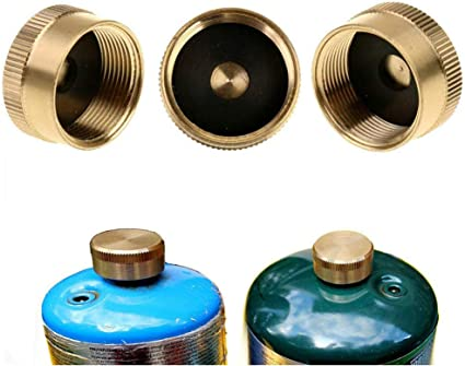 2pcs Solid Brass Protect Caps 1LB Propane Bottles Cylinders For Outdoor Camping