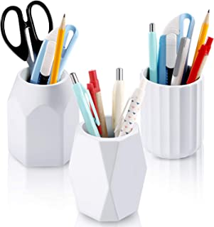 3 Pieces Silicone Pencil Cup Holder Creative Design Pen Container Geometric Pencil Holder for Office Desk Accessories Supp...
