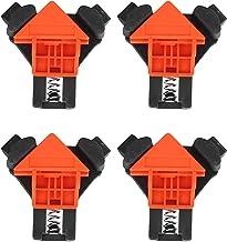 4 piezas Abrazadera De Ángulo Recto De Aleación De Aluminio, Regla Fija De La Herramienta Manual De Carpintería De Abrazadera De ángulo Recto De 90 Grados Con Mango Antideslizante