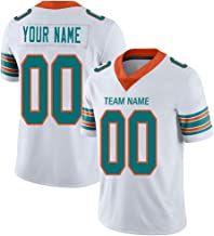 Custom Black/White Football Jersey Mesh Personalized Design Your OWN Names and Numbers for Men/Women/Youth
