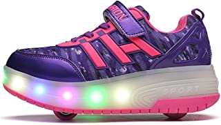 EVLYN Kids Roller Shoes Wheels Roller Shoes Roller Sneakers LED Light up Wheels Sneakers
