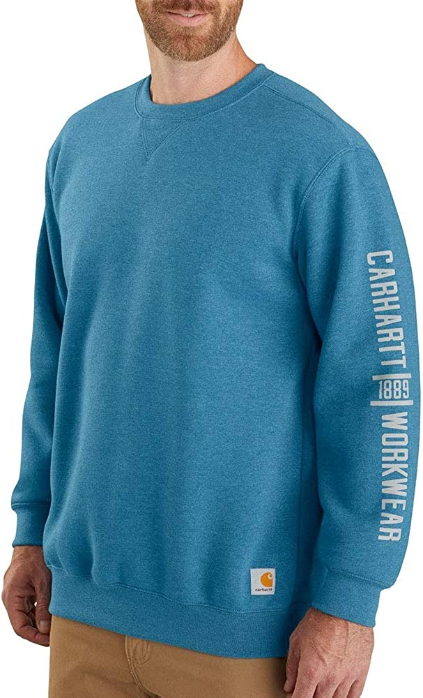 Carhartt Men's 104441 Midweight Crewneck Logo Graphic Sweatshirt