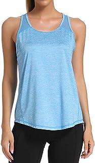 Camisetas Deporte Mujer Fitness Camiseta Tirantes Mujer Gym Chalecos sin Mangas Mallas Verano Top Yoga Running Transpirab...