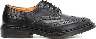 TRICKER'S Luxury Fashion Mens BOURTONBLKDN Black Lace-Up Shoes | Season Permanent