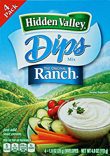 Hidden Valley Dips Mix Original Ranch Pack mit 4 Tüten