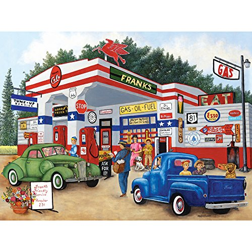 Bits and Pieces - 500 Piece Jigsaw Puzzle for Adults - Frank's Friendly Service - 500 pc Americana Summer Jigsaw by Artist Kay Lamb Shannon