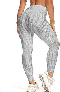 Yidarton Women's High Waist Yoga Pants Workout Tummy Control Leggings Butt Lift Textured Tights