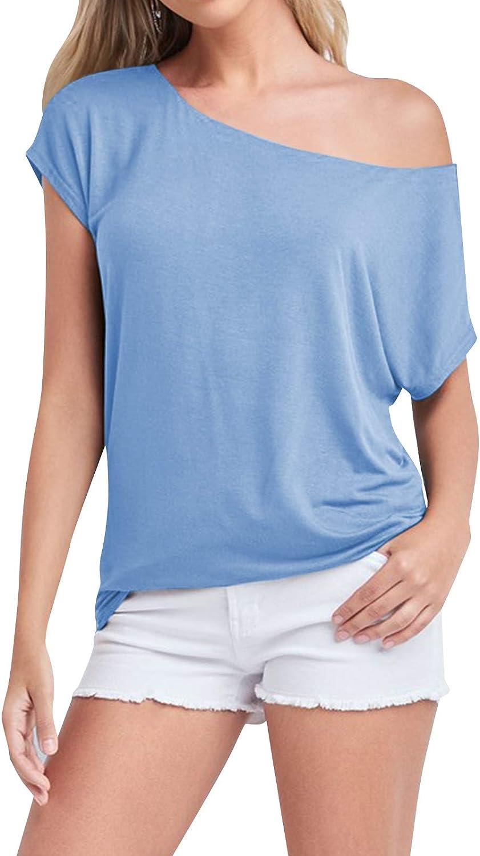 YOINS Camiseta de manga larga para mujer con corte en hombros descubiertos