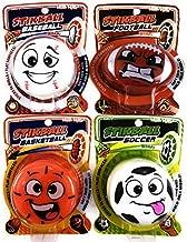 Hog Wild Splat & Stick Stikball Sports Baseball, Basketball, Soccer & Football Gift Set Bundle - 4 Pack