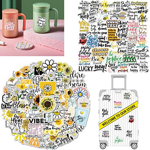 GOTONE 100 PCS Inspirational Quotes Stickers and Decals, Vinyl Waterproof Stickers for Laptop, Luggage, Bike, Car, Skateboard, Guitar, Water Bottle, Phone, VSCO Stickers for Kids, Teens, Adults