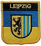 1000 Flaggen Leipzig Deutschland Schild Bestickt Aufnäher Abzeichen