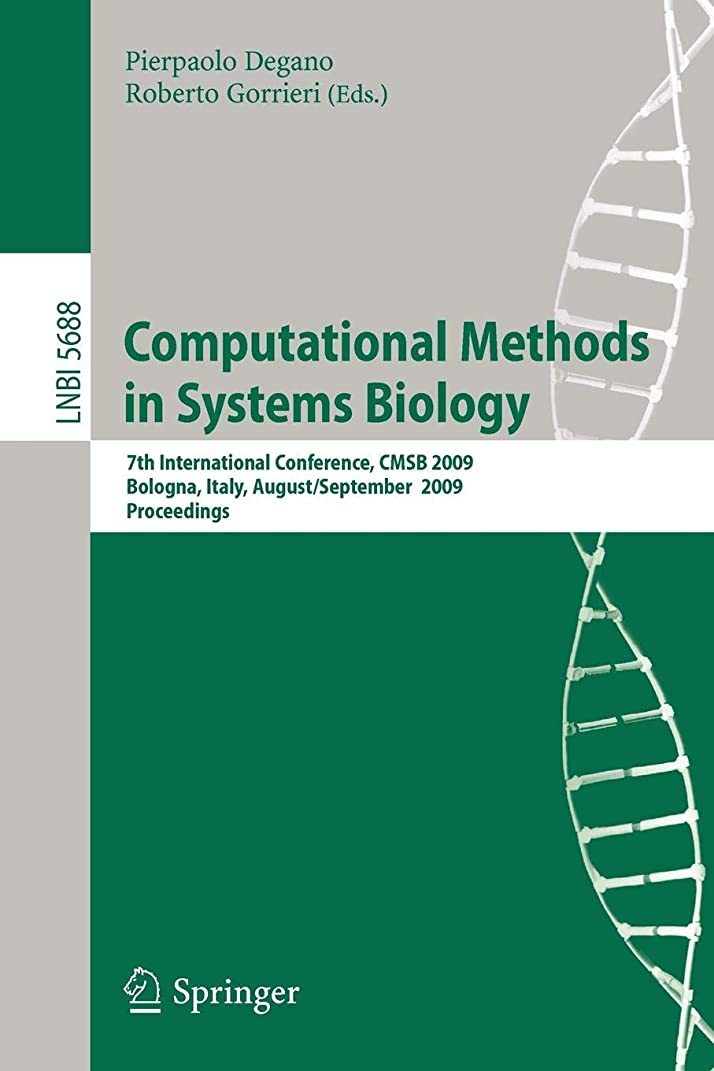 超えてビリーヤギ敗北Computational Methods in Systems Biology: 7th International Conference, CMSB 2009 (Lecture Notes in Computer Science)