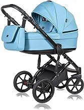 Stroller 3 en 1 juego completo con asiento de coche Isofix baby tub baby carrier Buggy Apollux de ChillyKids Clear Sky 333 Silla de auto 4 en 1 + ISOFIX