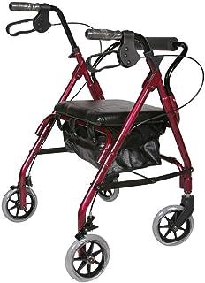 Mobility Aids & Supplies Walker Elderly Walker Travel Assistance Four Wheels Seat Can Be Folded Shopping Cart Lightweight ...
