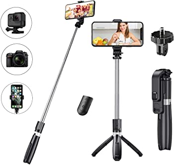 Zszaua 3 in 1 Detachable Tripod Selfie Stick