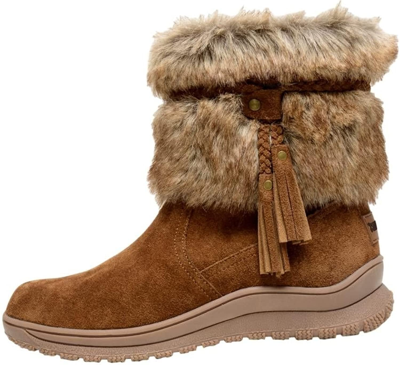 Minnetonka Womens Everett Shearling Boot