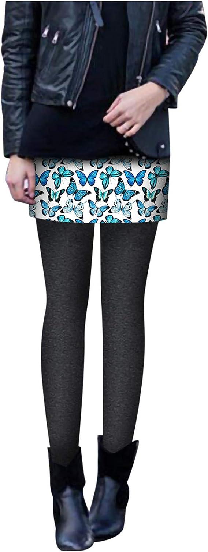 Butterfly Leggings Soldering for Popular Women Fleece Lined Skirt Trousers Thermal