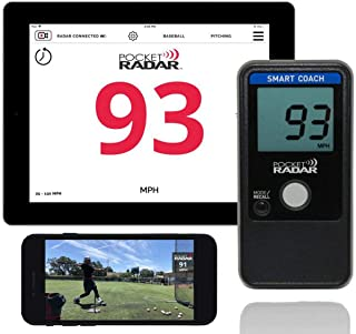 Pocket Radar Smart Coach/Bluetooth App Enabled Radar Gun Allows Remote Display and Speed in Video