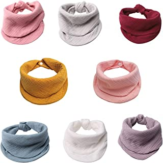 MERLINAE Muslin Baby Bandana Bibs, Multi-Use Scarf Bibs, Super Soft & Absorbent Drooling Bibs, Adjustable for Unisex Newbo...