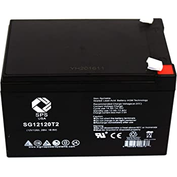 SPS Brand 12V 12Ah Replacement Battery for Schumacher Electric IP-125 Instant Power Jump Starter