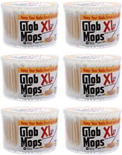 Glob Mops XL Cotton Swabs 6-Pack Bundle | Extra Absorbent | Eco-Friendly | 1800 Total Mops