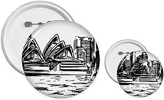 Australie Opera House Sydney Sketch Pin Badge Design Kit Loisirs Créatifs