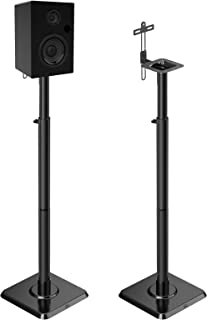 Mounting Dream Speaker Stands Bookshelf Speaker Stands for Universal Satellite Speakers, Set of 2 for Bose Polk JBL Sony Y...
