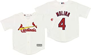 Outerstuff St. Louis Cardinals Yadier Molina #4 MLB Little Boys Toddlers Cool Base Home Replica Jersey, White
