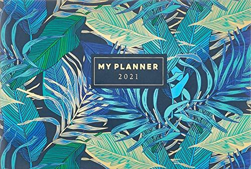 rido/idé 7017507011 Taschenkalender Septimus, 2 Seite = 1 Woche, 152 x 102 mm, Grafik-Einband Tropical, Kalendarium 2021