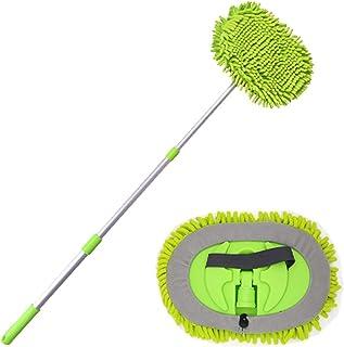 Venster glazen borstel Verstelbare Lange Handvat Mop Met Extra Mop Hoofd Microfiber Reinigingsborstel Voor Autoraam Glas 1...