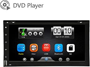 LEXXSON Car DVD CD Player Capacitve Touch Screen MP3 WMA Player Car Stereo Radio Hands Free Music Streaming USB/SD Micphone Phone Mirror Link Steering Wheel Control DH2062-P