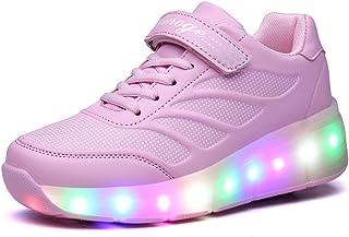 70590f5272c Zapatillas con Ruedas,Unisex Niños LED Luz Parpadea Deportes al Aire Libre  Skateboard Sneaker Automáticamente