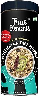 True Elements Multigrain Diet Muesli 400g - Diet Food - Gluten Free Muesli, Power of Multigrain Oats, Jowar Flakes, Bajra ...