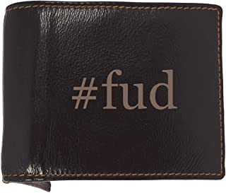#fud - Soft Hashtag Cowhide Genuine Engraved Bifold Leather Wallet