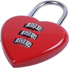 2/unidades I Love You coraz/ón rojo Mini dibujos animados Novelty candado de bloqueo de contrase/ña combinaci/ón regalo del d/ía de San Valent/ín