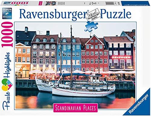 Puzzle compatible con Ravensburger 16739, Copenhague Dinamarca, 1000 piezas